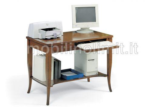 Scrittoio portacomputer 1 cassetto - grezzo - nuovo