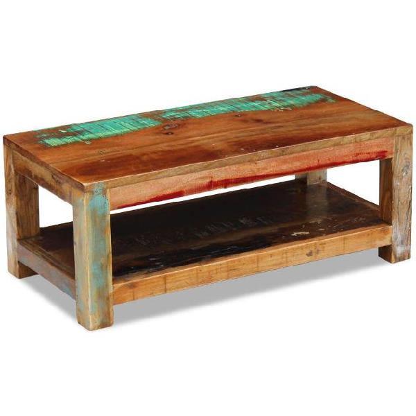 Vidaxl tavolino da caffè in legno massello di recupero