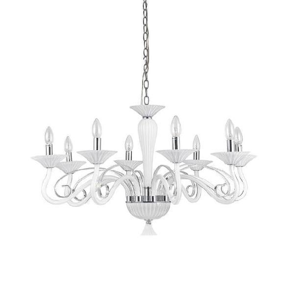 Lampada A Sospensione 6 X 40w E14 Ideal Lux Bianco