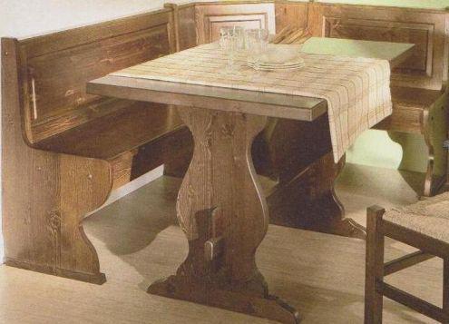 In legno massiccio Colore rovere Coma panca angolare in legno di pino