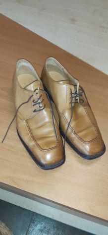 Scarpe pelle uomo color senape taglia 8,5 (43)
