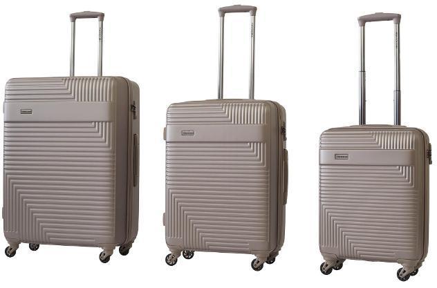 Set 3 valigie trolley rigide in abs 4 ruote tsa ravizzoni