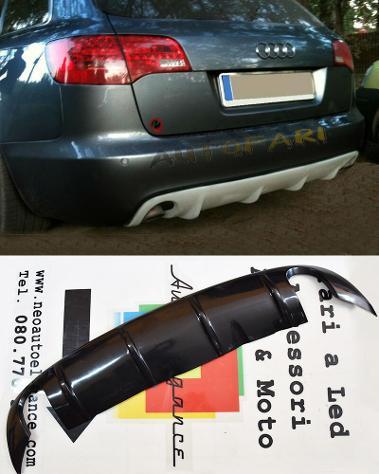 Audi a6 4f c6 2004-2008 avant design rs6 diffusore sotto