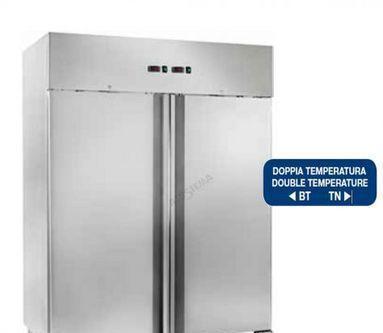 Armadio refrigerato a doppia temperatura gn 2/1 - cap.