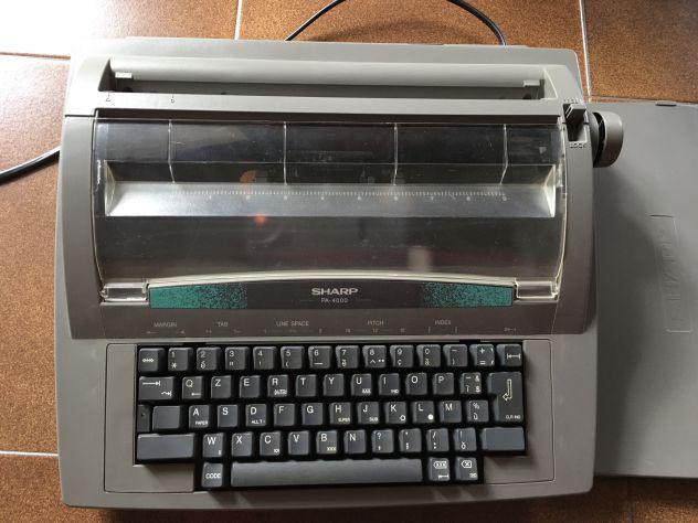 Macchina da scrivere elettronica sharp pa-4000