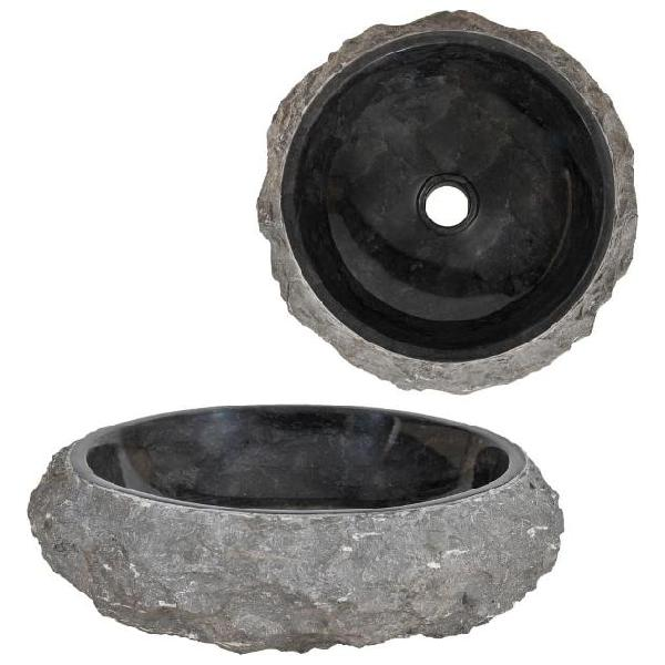 Vidaxl lavandino 40x12 cm in marmo nero
