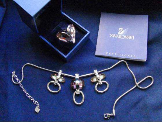 Anello e collana swarovski