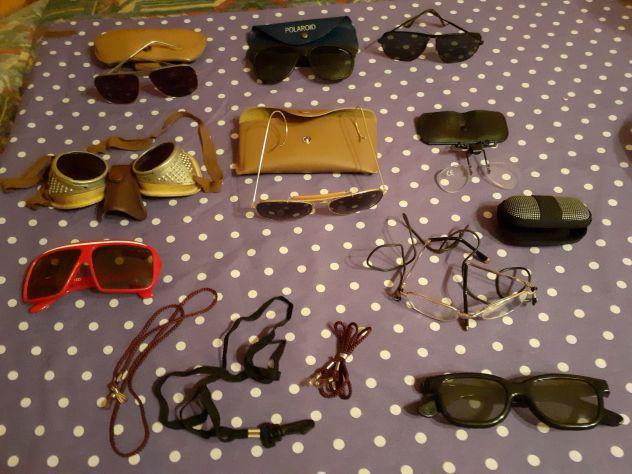 Lotto occhiali vintage vari da sole e lettura - polaroid 3d