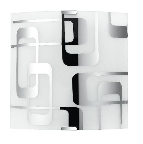 Applique lampada moderna quadrata vetro bianco decoro quadri