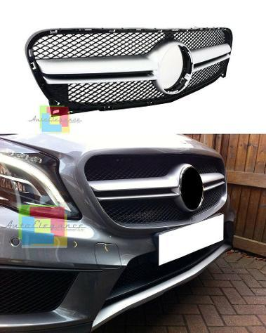 Sport Griglia Griglia Radiatore Cl Look Argento per Mercedes SLK R170