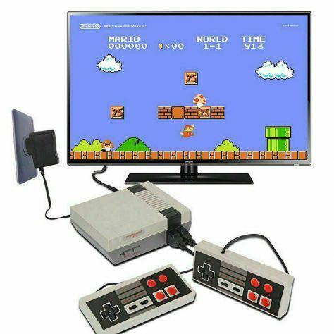 Mini console giochi classic retro per nes 2 controller tipo