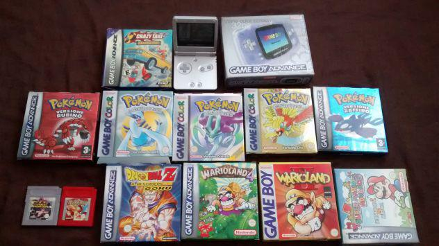 Nintendo game boy advance sp +12 giochi