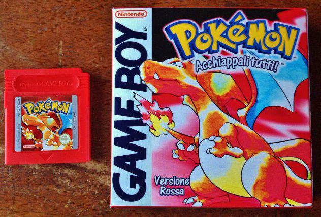 Pokémon rosso con scatola gioco nintendo gameboy game boy