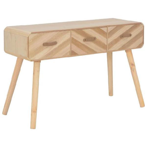 Vidaxl tavolo consolle 100x35x68 cm in legno massello