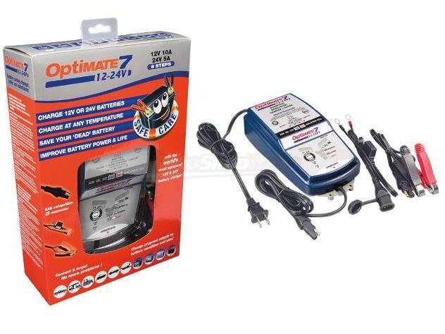 Caricabatterie optimate 7 12v-24v tecmate - tester e