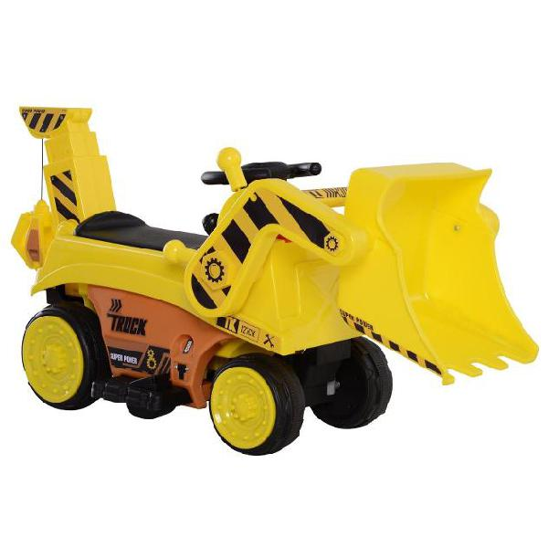 Escavatore elettrico per bambini 6v giallo benzoni