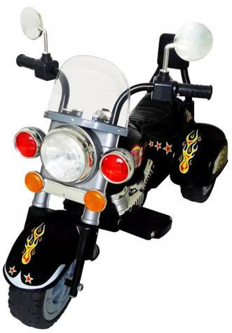 Moto elettrica per bambini 6v happy kids nera