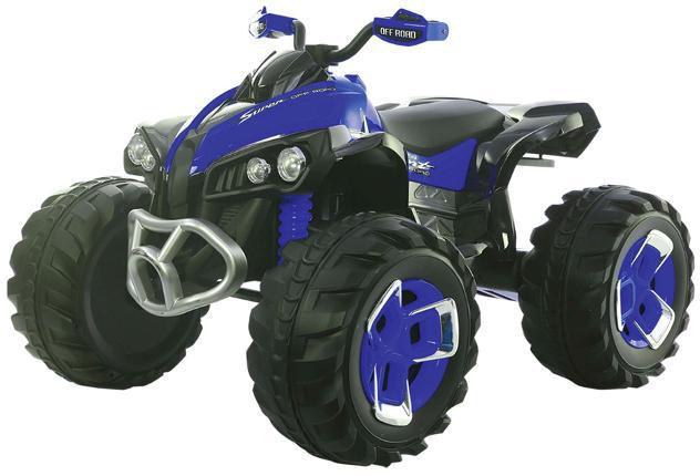 Quad elettrico per bambini 12v kidfun new quad blu