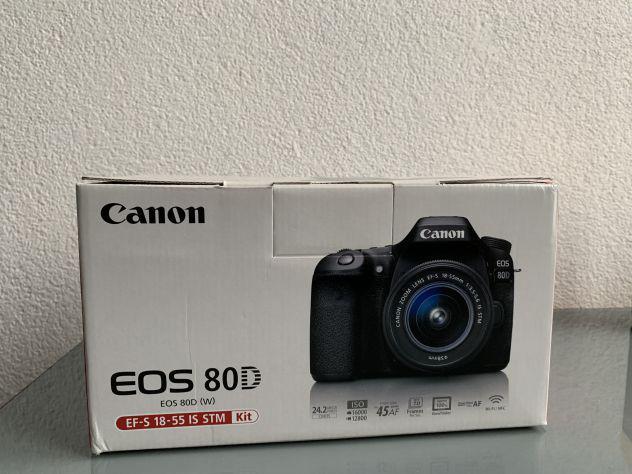 Canon eos 80d + corredo fotografico