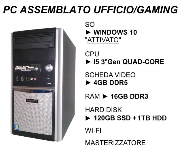 OFFERTISSIMA Pc DESKTOP GAMING i5 con scheda grafica 4gb