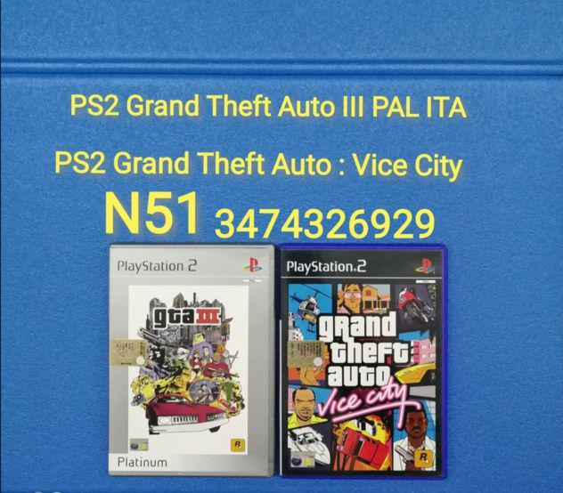 Ps2 grand theft auto iii pal ita