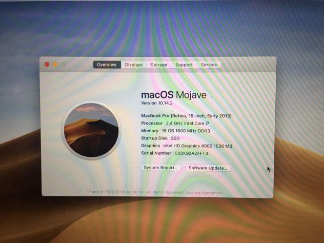 vendo macbook pro Retina inizio 2013 - occasione