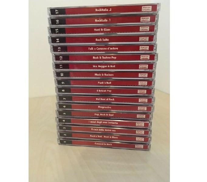 Collezione cd canzoni in rock