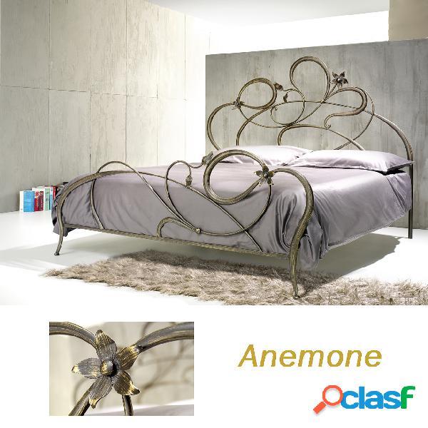 Letto anemone ferro battuto