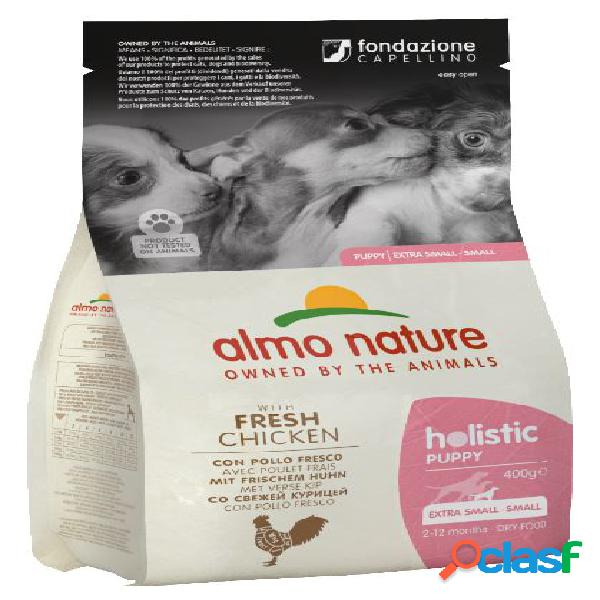 Almo nature cane holistic small puppy gr 400 con pollo e riso