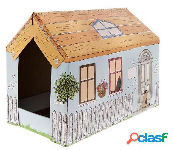 Ferribiella tiragraffi casetta cartone cottage cm 25 x 50 x 35
