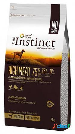 True instinct cane high meat medio / maxi adulto pollo allevato a...