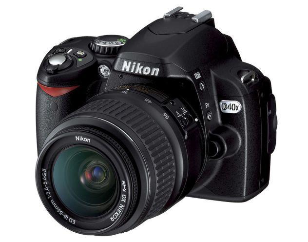 Nikon d40x kit + sd card ultra spid 32gb