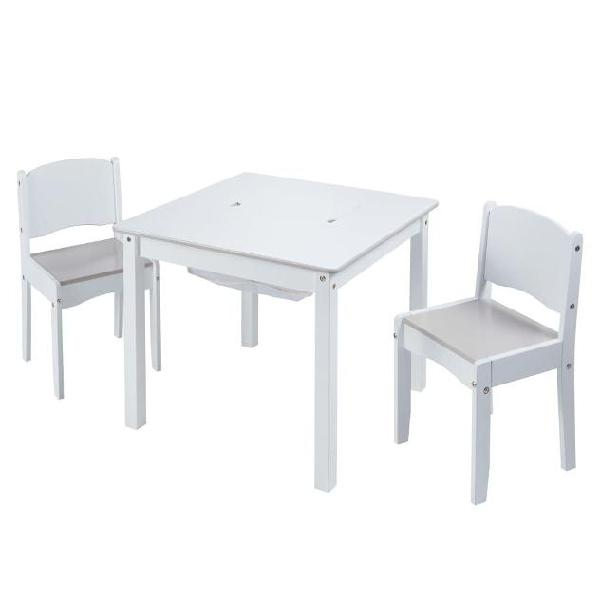Worlds apart set tavolo e sedie 3 pz bianco
