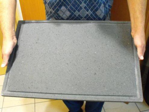 Barbecue piastra griglia in pietra lavica dell 'etna su