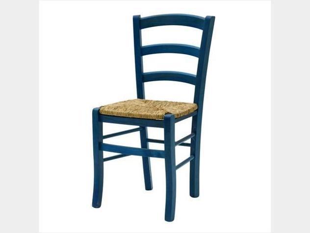 Sedia paesana blu nuova art.310gpblu
