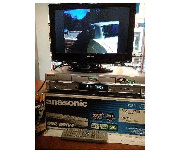 Videoregistratore vhs panasonic,tv samsung guasta,al.12v-10a