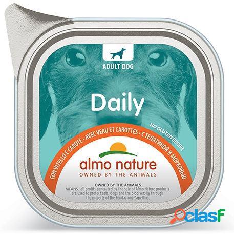Almo nature daily menu pfc per cani gr 100 con vitello e carote