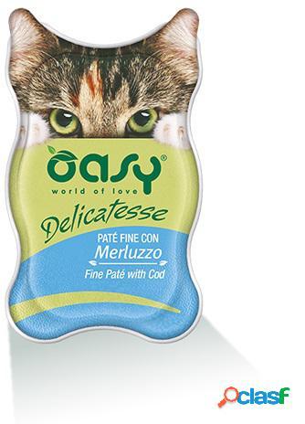 Oasy gatto vaschetta delicatesse pate' con merluzzo gr 85
