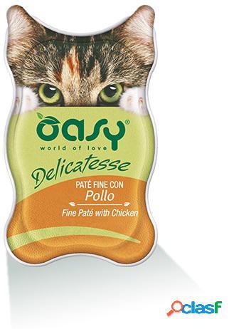 Oasy gatto vaschetta delicatesse pate' con pollo gr 85