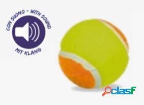 Croci gioco per cani palla tennis sound fluo 6,5 cm