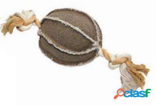 Leopet gioco per cani palla con corda in canvas 22 x 13 x 13 h cm