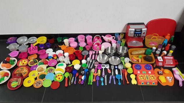 Lotto giochi tegami e accessori per cucina 190 pezzi