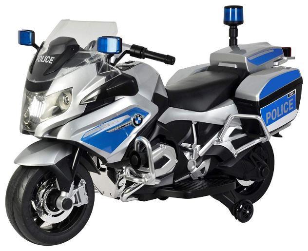 Moto elettrica per bambini 12v bmw r1200 police polizia