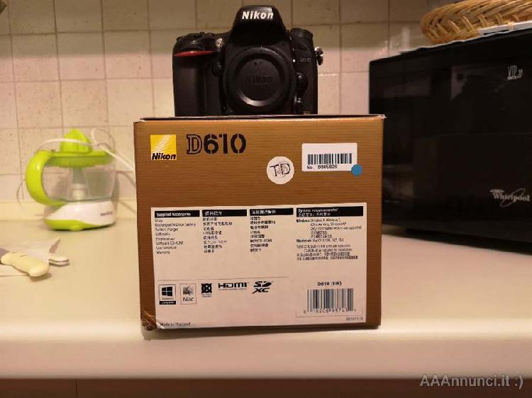 Nikon d610 con 20000 scatti
