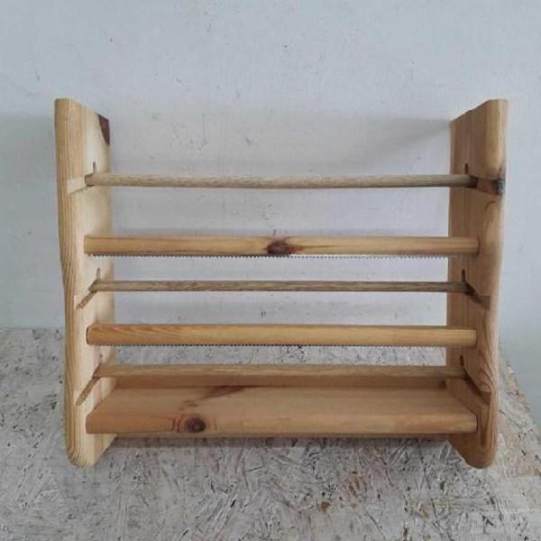 Porta rotolo 3 posizioni in legno