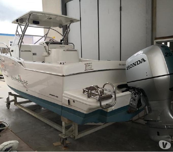 Barca fisherman cabin bimax 730 fb 200 honda 4t new