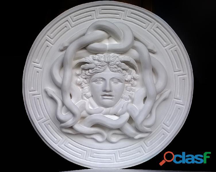 La gorgone Medusa scultura con diametro di 46 cm
