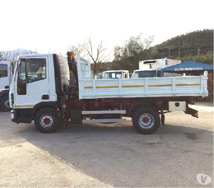 Camion iveco eurocargo 90e17 k tector ribaltabile e gru