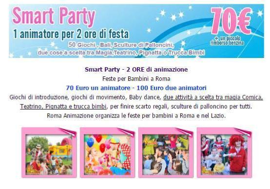 Feste per bambini a roma da 70 euro