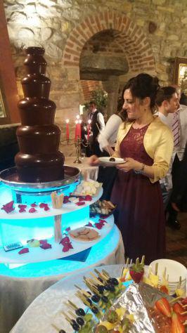 Gran fontana di cioccolato